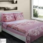 Kомплект с олекотена завивка памучен сатен - Феникс розово