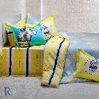 Спално бельо памучен сатен Леони
