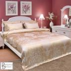 Спално бельо с жакард и бродерия - Жозефин старо злато