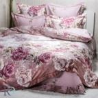 Луксозен спален комплект с жакард и бродерия - Фиоре лила