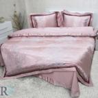 Луксозен спален комплект с жакард и бродерия Рона - пепел