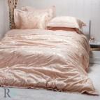 Луксозен спален комплект с жакард и бродерия - Рона оранж