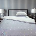 Луксозен двоен спален комплект Фиджи - сиво