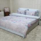 Луксозен спално бельо от зелен чай - Ехинацея