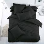 Спално бельо Ранфорс - Черно