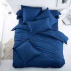 Спално бельо Ранфорс - наситено Синьо
