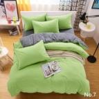 Двулицево спално бельо - зелено/графитено сиво