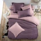 Двулицево спално бельо - лавандула/светло лилаво