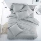 Спално бельо Ранфорс - светло Сиво