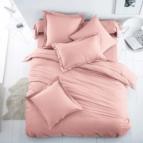 Спално бельо Ранфорс - светло Розово