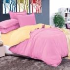 Двулицево спално бельо - светлолилаво/екрю