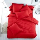 Спално бельо Ранфорс - Червено