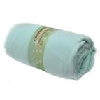 Памучен чаршаф с ластик за матрак - резеда