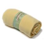 Памучен чаршаф с ластик за матрак - жълт