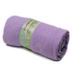 Памучен чаршаф с ластик за матрак - лилав