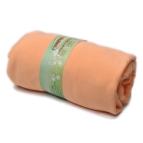 Памучен чаршаф с ластик за матрак - праскова
