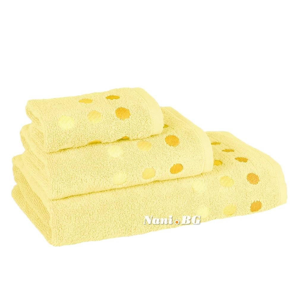 3e8b706f5b9 Комплект от 3 хавлиени кърпи Виена - жълто