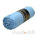 Долен чаршаф с ластик - Светло син