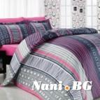 Луксозен семеен спален комплект Лайнс-пембе