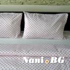 Семеен спален комплект Розови точки