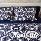 Семеен спален комплект Сини цветя