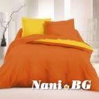 Спално бельо Ранфорс Оранж - Жълт