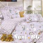 Бебешко спално бельо - Денди-лилаво