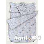 Бебешко спално бельо - Мечета синьо