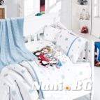 Бебешко спално бельо-Бамбук и одеяло - Пингвин