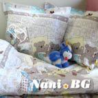 Бебешки к-т с олекотена завивка Лека нощ в бежово