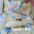 Бебешко спално бельо - Мече с цигулак в жълто