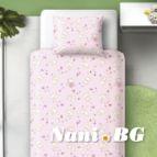 Бебешко спално бельо - Котенца-розови