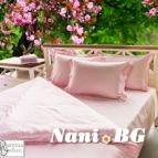 Спално бельо памучен сатен - Розово