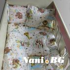 Бебешко спално бельо - Зоопарк в бежово