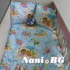 Бебешко спално бельо - Зоопарк в синьо