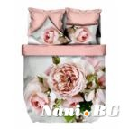 Спално бельо 3D - Розови рози