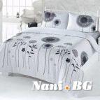 Спално бельо Поликотън - Бял Черен