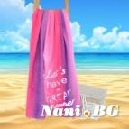 Плажна кърпа - Дъга циклама