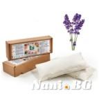 Възглавница с ароматен пълнеж от лавандула и лимец