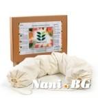 Възглавница за бременност и кърмене с растителен пълнеж био лиме