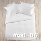 Едноцветно спално бельо - Бял