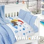Бебешко спално бельо с одеяло бамбук - Sleeper Mavi