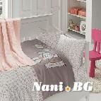Бебешко спално бельо с одеяло бамбук - Baby Pudra
