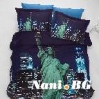 Спално бельо 3D - Ню Йорк
