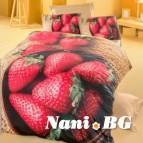 Спално бельо 3D - Ягоди