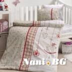 Бебешко спално бельо-Бамбук - Palmi Kirmizi