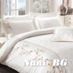 Луксозен спален комплект VIP сатен - RAMIRA крем