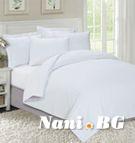 Едноцветно спално бельо Класик бяло