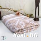 Хавлиени кърпи Хана - жакард бежаво