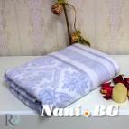 Хавлиени кърпи Хана - жакард синя